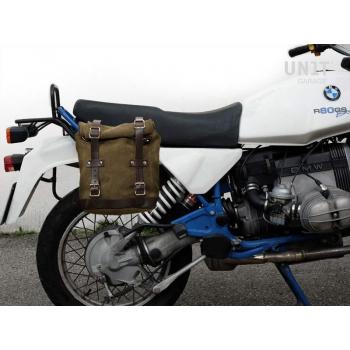 スプリットレザーのサイドバッグ+ R80 G / Sフレーム
