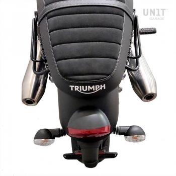 レザースプリットサイドバッグ+ Triumph Street Twin 900 SXフレーム (2016 今まで)