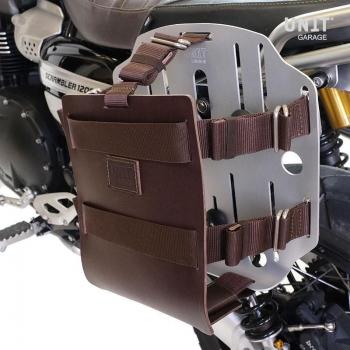調節可能な革のフロント、クイックカップリングとフレームを備えたアルミニウムバッグホルダー