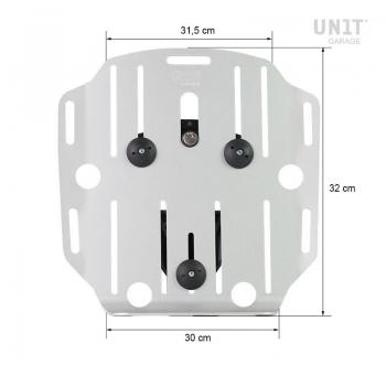 調整可能なレザーフロントとクイックカップリングを備えたアルミニウムバッグホルダー
